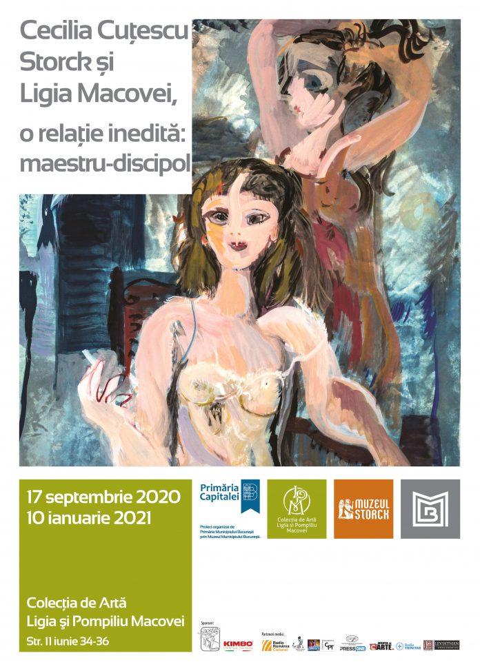 expoziție medalion Cecilia Cuțescu Storck și Ligia Macovei