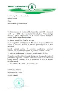 protest per sector 5 piedone