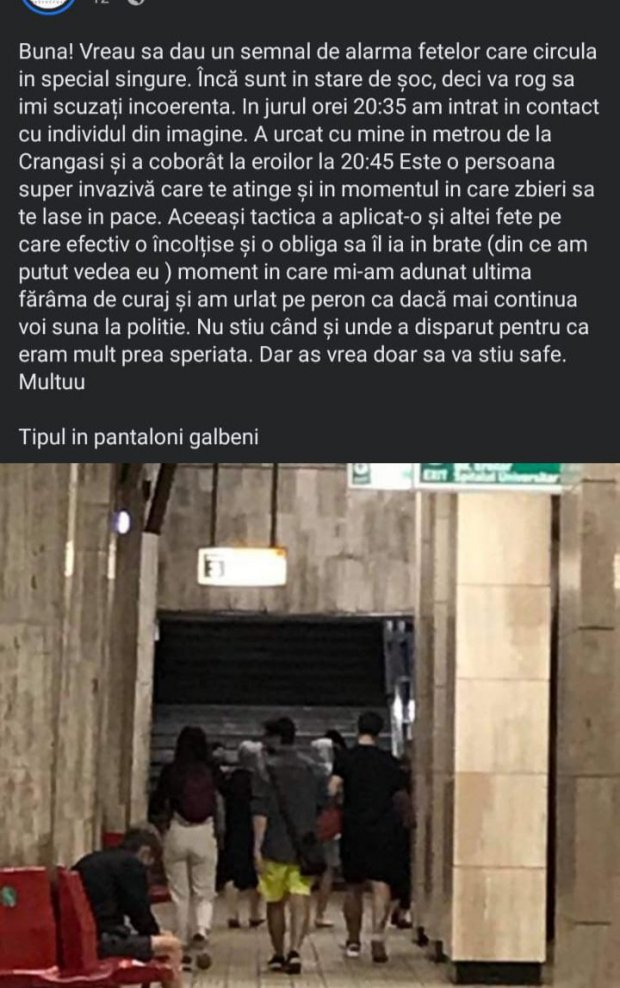individ ataca femei in metrou